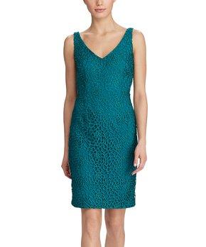 9fc05870 Lauren Ralph Lauren | Dame Purple Floral Lace Cap-Sleeve Dress - Women. all  gone