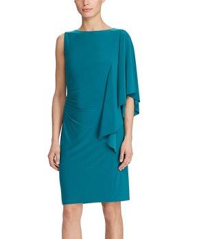 738696a4 Lauren Ralph Lauren | Ocean Emerald Lace V-Neck Sleeveless Dress - Wo… all  gone