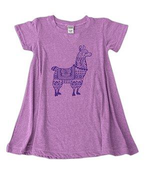 4c306d46 Urban Smalls | Mauve Llama A-Line Dress - Girls