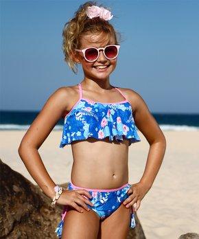 966799ab9f Sun Emporium | Kyoto Floral Ruffle Bikini - Girls