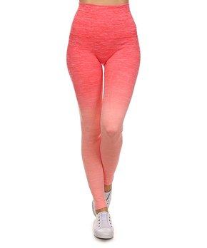 1275edbf682ed Pink Mint   Gray Dip-Dye High-Waist Active Leggings - Women · all gone