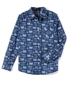 947651f3 Beverly Hills Polo Club   Navy Boat Button-Up Shirt - Toddler & Boys