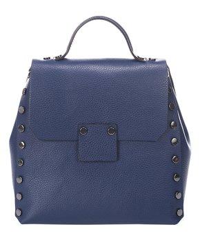 Giulia Massari   Blue Stud-Accent Leather Backpack 834d52c1ea