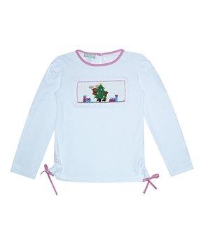 d870bdd59 Vive La Fête | White Christmas Tree Long-Sleeve Top - Infant, Toddle…