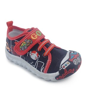 1aa4f8392d Chulis Footwear | Black & Red Cars Ruby Sneaker - Boys