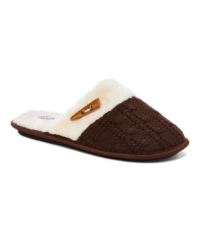 16366c6dbec7 Ellen Tracy | Brown Cable-Knit Toggle Slipper - Women