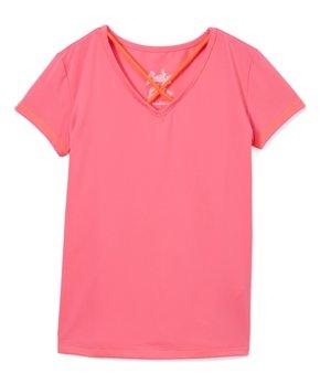 37a7f2c7b Lucky in Love | Neon Pink Crisscross-Strap Tee - Girls
