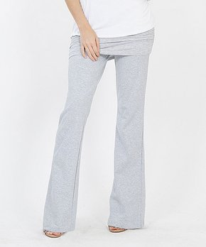 a9895265914c6 Lydiane | Heather Gray Ruched Layered Yoga Pants - Women