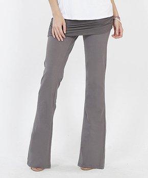 3787192f172e6 Lydiane | Mid Gray Ruched Layered Yoga Pants - Women
