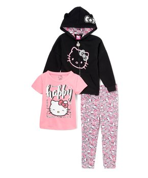 c0fad4b67 E-play Brands | Hello Kitty Black & Pink Zip-Up Hoodie Set - Infant &…