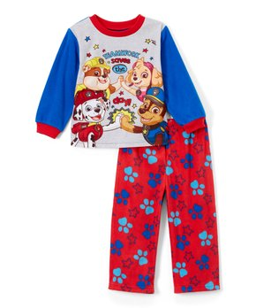 PAW Patrol Blue   Red  Teamwork Saves the Day  Pajama Set - Toddler 250eb7953