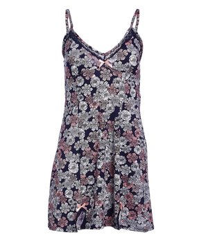 391f1e78b5ae Marilyn Monroe Intimates | Navy & Pink Floral Chemise - Women