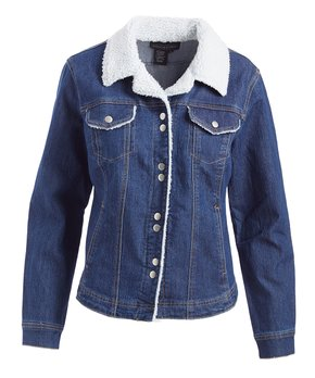 6d5fb176c Live A Little | INDIGO JKT W/SHERPA TRIM - Women