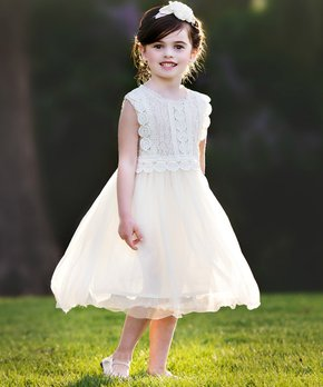 4d07194b4c69d Think Pink Bows | Ivory Analeah Sleeveless Dress - Infant, Toddler & …