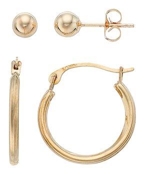 84b9fe37a Regal Jewelry | 10k Gold Hoop & Stud Earrings Set