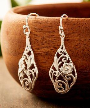 ed710592c Vera & Co., Inc. | Sterling Silver Floral Teardrop Earrings