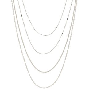 8c8df4dfb Best Silver | Sterling Silver Four-Chain Tiered Layered Necklace