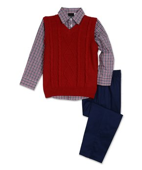 01b6418da Boys  Sweater Vests - Dressy to Casual Vests On Sale at zulily