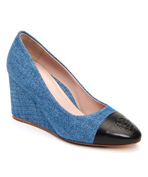 ad5d878920 Taryn Rose | Blue & Black Isabella Wedge - Women