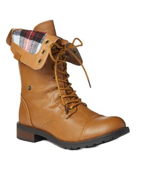 aee96578f2eec Edgy Combat Boots   Zulily