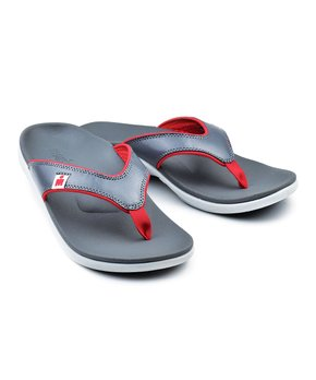 Rubber IronSport//Ironman Womens Uhane Flip Flop Color Coral|Grey