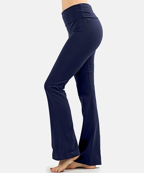 2f54ee7f926d6 Zenana | Navy Fold-Over Yoga Pants - Women