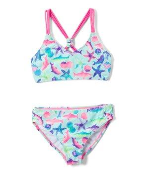 9e33439ae turquoise starfish sunbather bikini 287152 54517217.html | Zulily