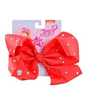 db0bf8d3ea21 UPD | JoJo Siwa Red Star Rhinestone-Accent Bow Clip