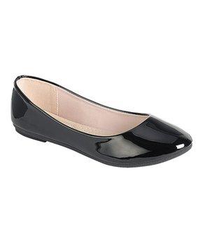 3a53c4460 Forever Link Shoes | Black Shiny Flexible Ballet Flat - Women