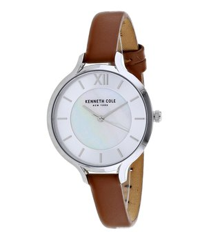 13a9a39a7 Kenneth Cole New York   Brown & Goldtone Classic Leather Watch. all gone
