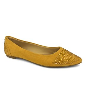 9f14f5cee633 Bamboo | Yellow Embellished Blog Ballet Flat - Women