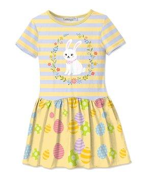 7b583090dc84 Yellow Bunny   Egg Drop Waist Dress - Girls · Sunshine Swing ...