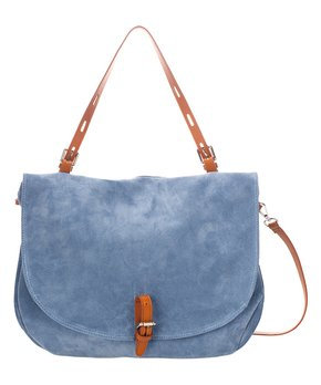 Giulia Massari   Light Blue Adjustable Leather Messenger Bag f4d5d55bad