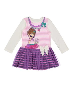 09af6b6b73 Bentex | Fancy Nancy Purple 'Très Chic' Tulle Dress - Toddler