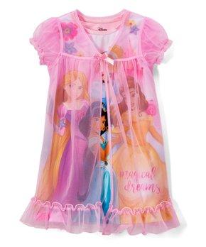 8bb81e049 AME | Disney Princess Light Pink 'Magical Dreams' Nightgown & Sheer O…
