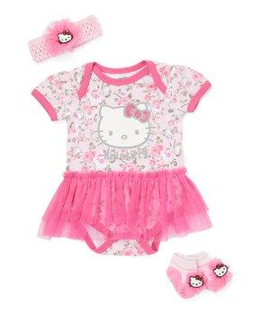 1793b4d61 E-play Brands | Hello Kitty Pink Tutu-Accent Bodysuit Set - Newborn