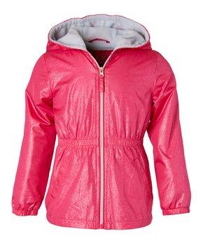 728bc6c5 Pink Platinum | Pink Peacock Fleece-Lined Anorak - Toddler & Girls