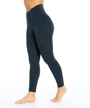6c3f4876c5 Black Contouring High-Waist Leggings - Women