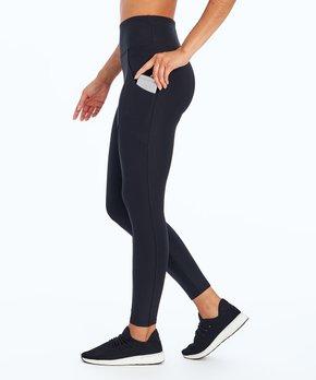 5fe53797efce4 Marika   Black Solid Pocket Tummy-Control Leggings - Women & Plus
