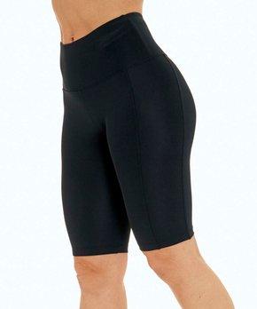 32ed61dd877cd Bally Total Fitness | Black High-Waist 11'' Bermuda Shorts - Women