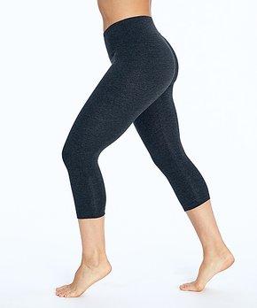 7b154e99730ab Bally Total Fitness | Heather Charcoal 18'' Tummy-Control Capri Leggi…
