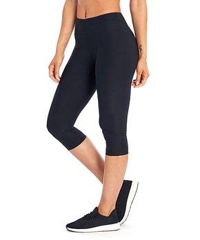 e26aa260fa12f Bally Total Fitness | Black 18'' Slim Capri Leggings - Women