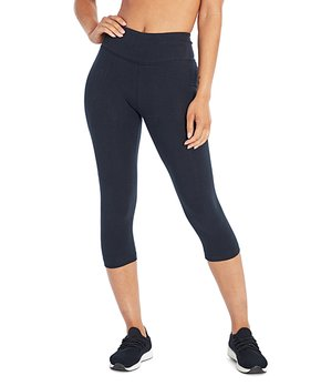 673ead2fa7ef6 Bally Total Fitness | Black 18'' Tummy-Control Fitted High-Rise Capri…