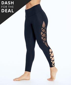 2b2611e8b4115 Bally Total Fitness | Black Hyper Sheer-Accent Cutout High-Waist Legg…