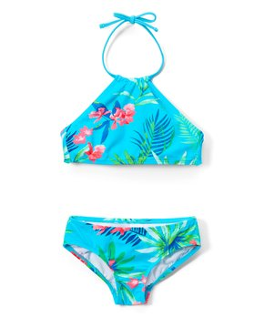 f60795b77f06d Kanu Surf | Aqua Leonie Tropical Halter Bikini - Toddler & Girls