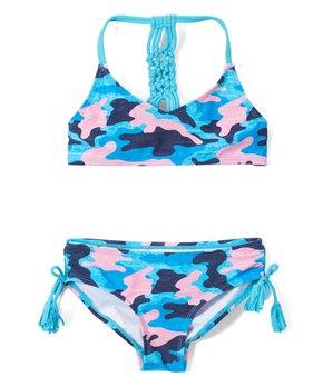 a36a6045585f3 Kanu Surf | Navy Erin Camo V-Neck Bikini - Toddler & Girls