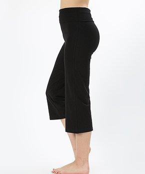 05546bc25d353 SBS Basics | Black Fold-Over Capri Pants - Plus
