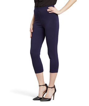 ee0adb15153bf2 only 1 left. Elliott & Vine | Navy Ponte Knit Crop Pants ...