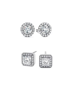 74a9bb296 Her First Pair | 18k White Gold-Plated Stud Earrings With Swarovski®…