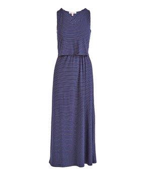 43f4313cd Derek Heart   Blue Stripe Sleeveless Maxi Dress - Juniors